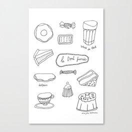 La dent sucrée Canvas Print