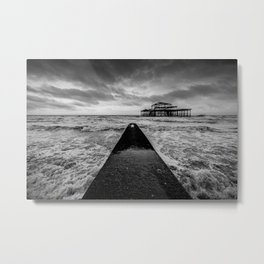 Remains of the Pier Metal Print