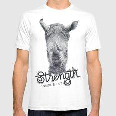 Rhino Strength Mens Fitted Tee White MEDIUM