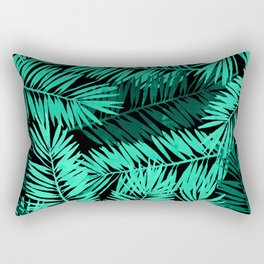 Tropical Palm Leaves II Rectangular Pillow