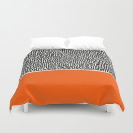 City Sunset Abstract Duvet Cover
