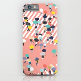Crossing The Street On a Rainy Day iPhone Case