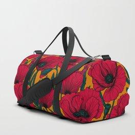 Red poppy garden    Sporttaschen