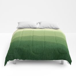 gradient landscape green Comforters