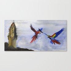 Parrots of Dolores Park Canvas Print