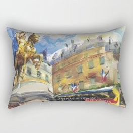 A triumphant Joan of Arc stands guard on la rue de Rivoli, Paris Rectangular Pillow