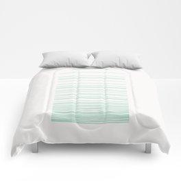 Linear Gradation - Mint Comforters