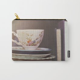 Vintage teacup and old books Carry-All Pouch