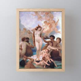 The Birth of Venus by William Adolphe Bouguereau Framed Mini Art Print