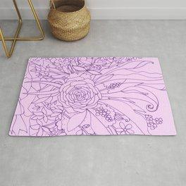 Purple Bouquet Rug
