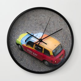 Scottish rainbow taxi Edinburgh Scotland Wall Clock