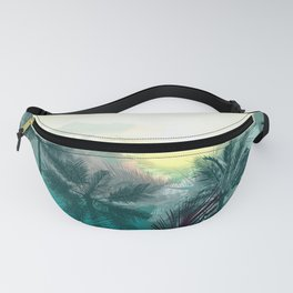 Tropical landscape. Pampa jungle trees, palms Fanny Pack