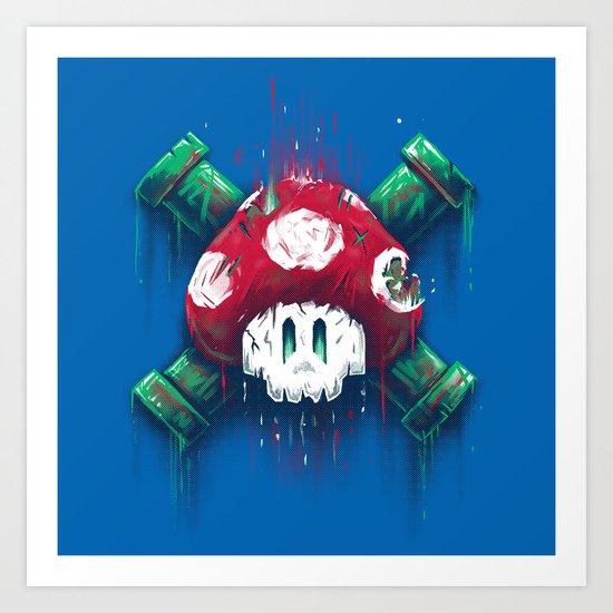 Mushroom Skull Art Print