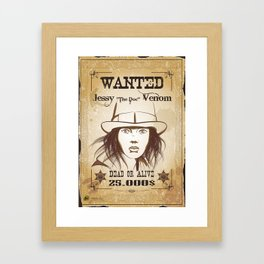 Wanted Framed Art Print