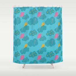 kites - blue Shower Curtain