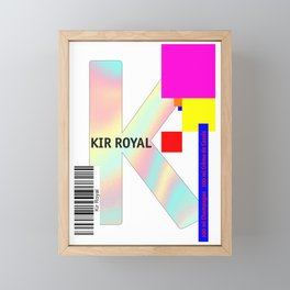 "Cocktail ""K"" - Kir Royal Framed Mini Art Print"