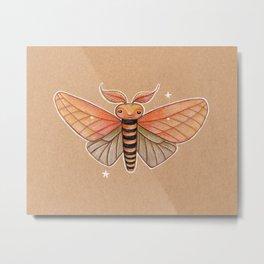 Un-Natural Selection: Carmine Stripee Halloween Moth Metal Print