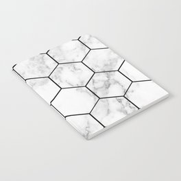 Marble hexagonal tiles - geometric beehive Notebook