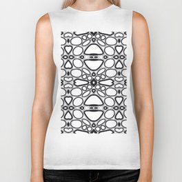 fancy grid Biker Tank