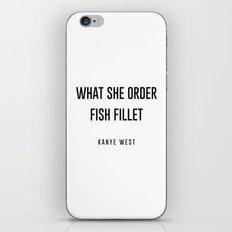 Fish fillet iPhone & iPod Skin