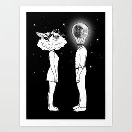 Day Dreamer Meets Night Thinker Art Print
