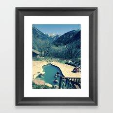 Avalanche Ranch Hot Springs, Colorado Framed Art Print