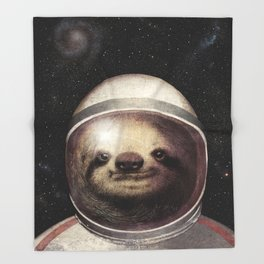 Space Sloth Throw Blanket