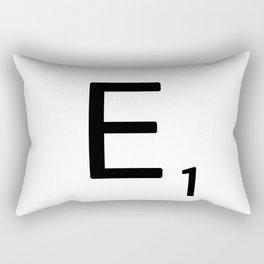 Letter E - Custom Scrabble Letter Wall Art - Scrabble E Rectangular Pillow