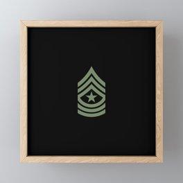 Sergeant Major (Green) Framed Mini Art Print