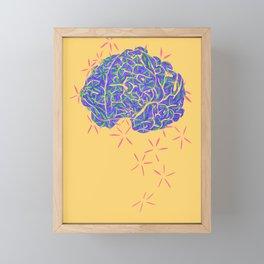 Brain Framed Mini Art Print