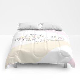 Typographic Christmas Sleigh Comforters