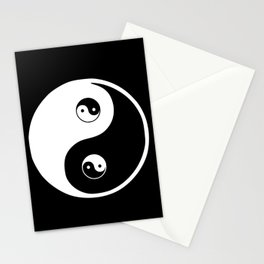 Ying yang the symbol of harmony and balance- good and evil Stationery Cards