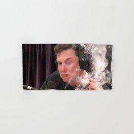 Elon Musk Smoking Weed Hand & Bath Towel
