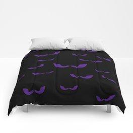 Eyes in the Dark (Purple) Comforters
