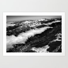 View from Mont Blanc of Chamonix, France. Art Print