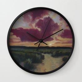 Desert trail at Dusk Wall Clock