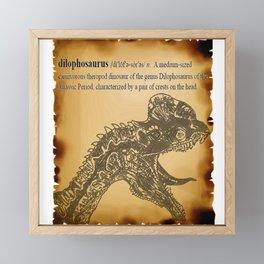 Dilophosaurus Dictionary Framed Mini Art Print