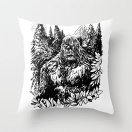 PACIFIC NORTHWEST SASQUATCH Throw Pillow
