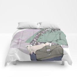NEUTRAL LEOPARD Comforters