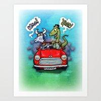 Mooo Yaar! Art Print