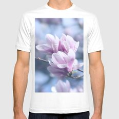 Magnolia beauty, patterns of nature White Mens Fitted Tee MEDIUM