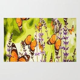 Butterflies and flowers - summery atmosphere in late summer - #pivivikstrm #buyart Rug