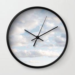 White Clouds | Classic Blue Wall Clock