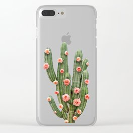 CACTUS AND ROSES Clear iPhone Case