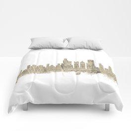 Chicago Illinois Skyline Sheet Music Cityscape Comforters