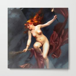 """Luis Ricardo Falero """"Muse of the Night (also known as The Witches Sabbath)"""" Metal Print"""