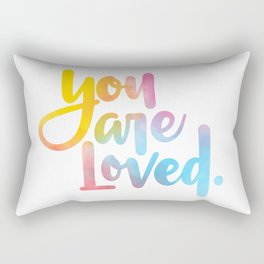 You are loved. (hand lettered) Rectangular Pillow