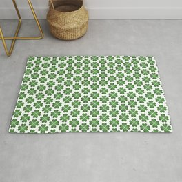 Hearts Clover Pattern Rug
