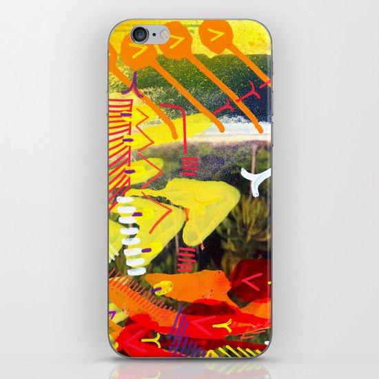 Wave yellow iPhone & iPod Skin