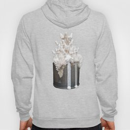 I Can : Doubt, White Mushrooms on Tin Can Hoody